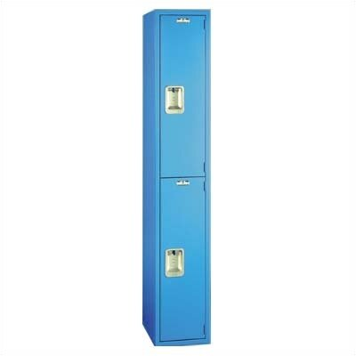 Lyon Workspace Products Quiet Door Locker - Double Tier - 1 Section - No Legs or Louvers (Unassembled)
