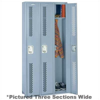 Lyon Workspace Products Integrated Frame All Welded Locker - Single Tier - 1 Section
