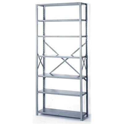 "Lyon Workspace Products 8000 Series 42"" Open Shelving - 7 Heavy Duty Shelves: 84"" H x 42"" W x 12"" D"