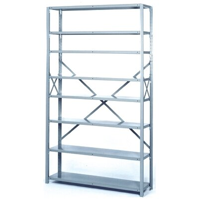 Lyon Workspace Products 8000 Series 42&quot; Wide Open Shelving - 8 Heavy-Duty Shelves: 84&quot; H x 42&quot; W x 18&quot; D