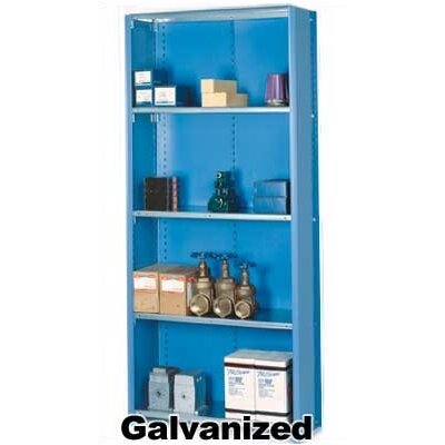 "Lyon Workspace Products 8000 Series Closed Shelving with Open Back - 6 Shelves: 84"" H x 36"" W x 18"" D"