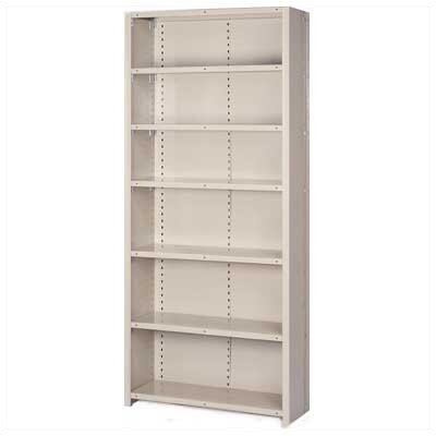 "Lyon Workspace Products 8000 Series Closed Shelving - 7 Shelves: 84"" H x 48"" W x 12"" D"