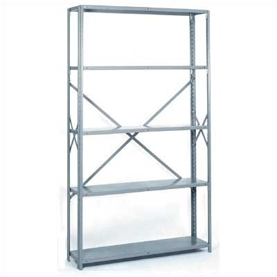 Lyon Workspace Products 8000 Series Open Offset Angle Shelving: 84&quot; H x 48&quot; W x 12&quot; D