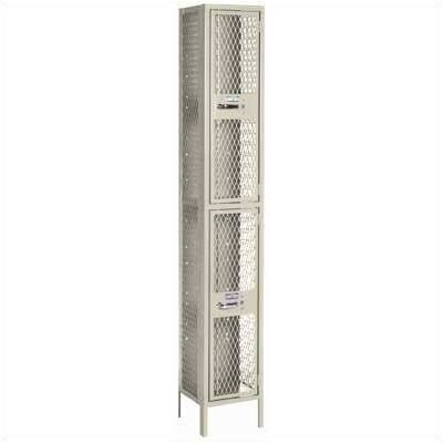 Lyon Workspace Products Expanded Metal Locker - Double Tier - 1 Section (Unassembled)