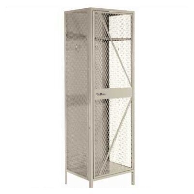 Lyon Workspace Products Expanded Metal Team Locker - 2 Sections (Unassembled)