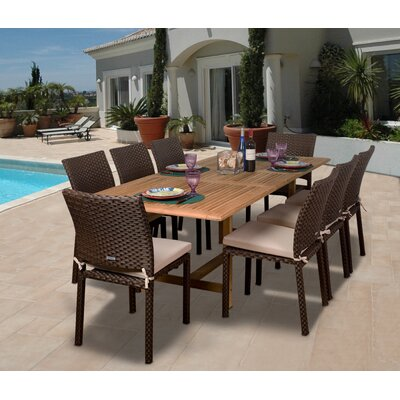 Amazonia Lens 9 Piece Dining Set