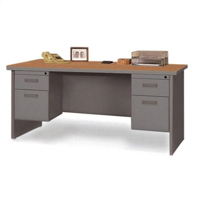 Marvel Office Furniture Pronto Contemporary Double Pedestal Office Computer Desk