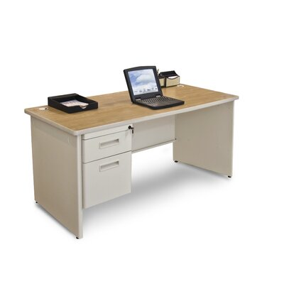 "Marvel Office Furniture Pronto 60"" Single Pedestal Computer Desk"