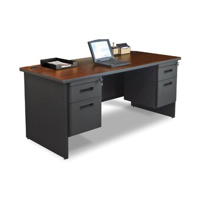 Marvel Office Furniture Pronto 66&quot; Double Pedestal Computer Desk