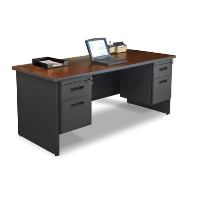 "Marvel Office Furniture Pronto 72"" Double Pedestal Computer Desk"