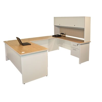Marvel Office Furniture Pronto U Shaped Computer Desk with Flipper Door Unit
