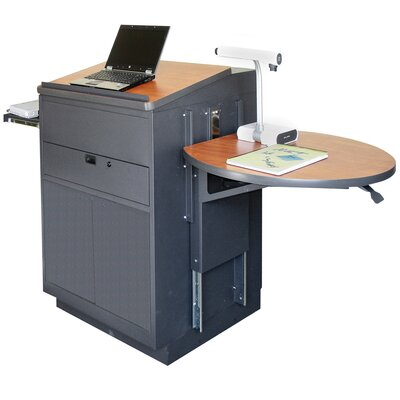 Marvel Office Furniture Zapf Office Support Media Center Lectern with Steel Door