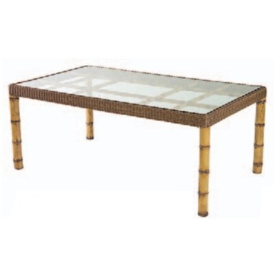 Whitecraft South Terrace Rectangular Dining Table with Glass Top