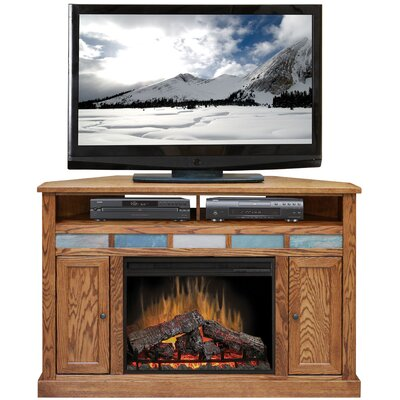 "Legends Furniture Oak Creek 56"" TV Stand with Electric Fireplace"