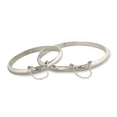 Sterling Essentials Sterling Silver Hand-engraved 5-mm Bangle Bracelet