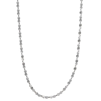 Sterling Essentials Sterling Silver Twist Serpentine Necklace