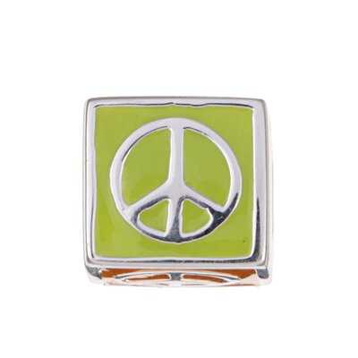 Sterling Essentials Signature Moments Sterling Silver Multi-colored Enamel Peace Bead