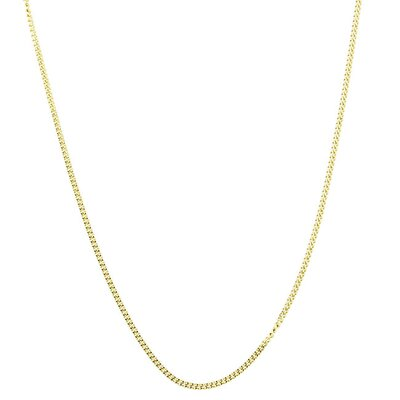 Sterling Essentials 14k Gold over Silver 16 inches Curb Chain