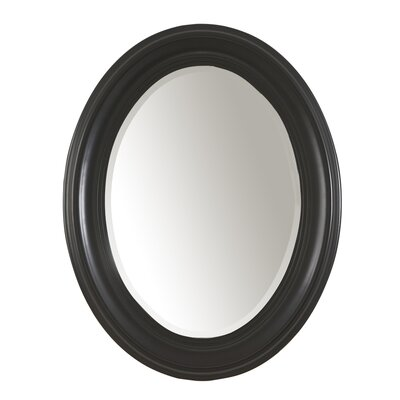 Carolina Cottage Oval Mirror in Antique Black