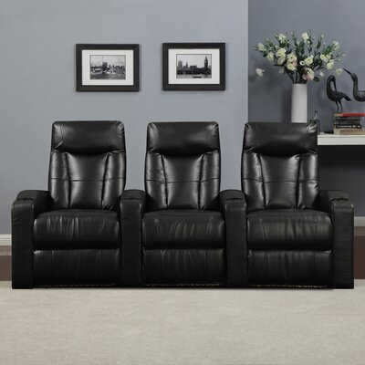 Wall Hugger Home Theater Recliner (Row of 3)