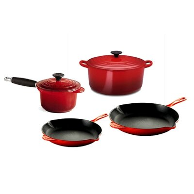 Expanded Enameled Cast Iron 6-Piece Cookware Set
