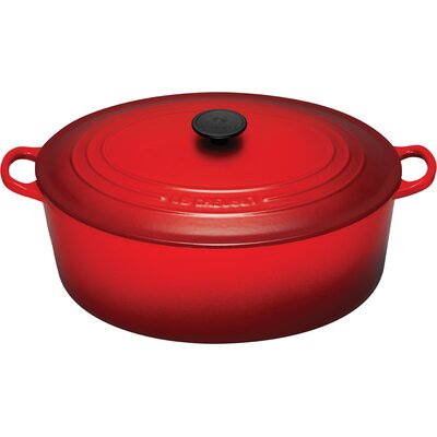 Enameled Cast Iron 9 1/2-Qt. Oval Dutch Oven
