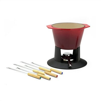 Le Creuset 1.75-Quart Traditional Fondue in Cherry