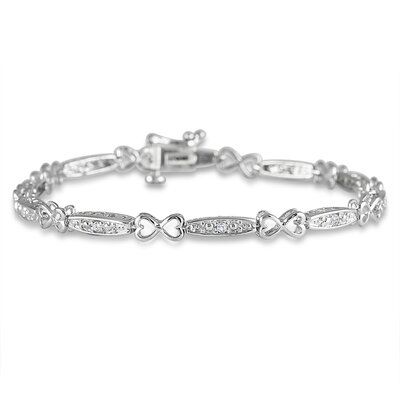 Round Cut Diamond I Love You Strand Bracelet
