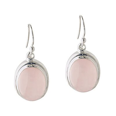 Oval Cut Quartz Drop Earrings
