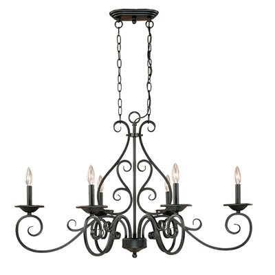 Spivey Hall 6 Light Kitchen Island Pendant