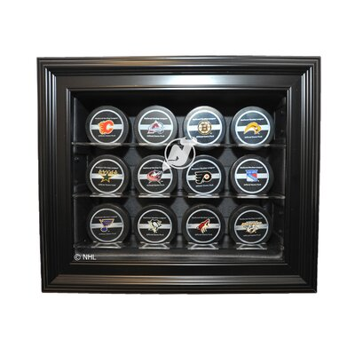 Caseworks International Twelve Puck Display Case in Brown