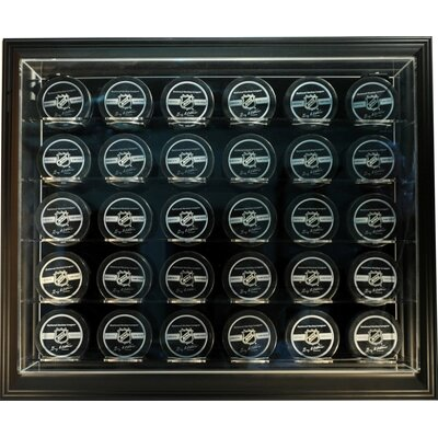 "Caseworks International Thirty Puck ""Case-Up"" Display in Brown"