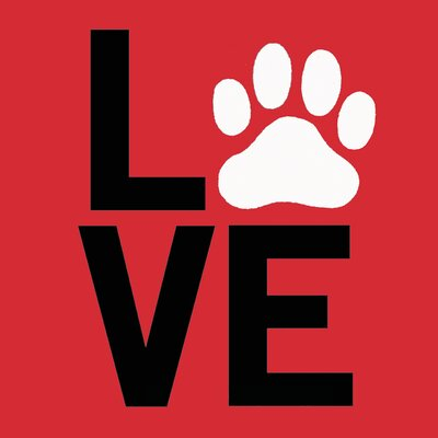 "LSC Home Pet Canvas ""Love"" Wall Art"