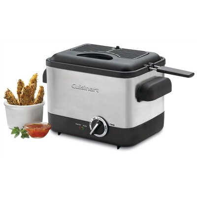 Cool Touch Compact Deep Fryer in Brushed Stainless