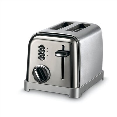 Cuisinart Metal Classic 2-Slice Toaster in Black and Stainless
