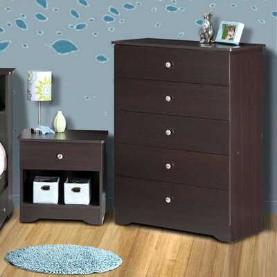 Nexera Pocono 5 Drawer Chest in Espresso Laminate