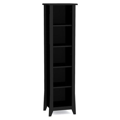 Nexera Tuxedo Slim Bookcase in Black Lacquer