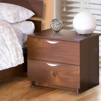 Nexera Nocce Truffle 2 Drawer Nightstand