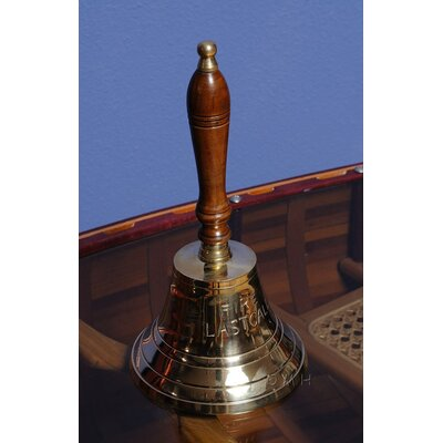 Old Modern Handicrafts Fire Last Call Hand Bell