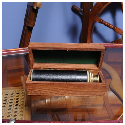 Old Modern Handicrafts Handheld Telescope in Wood Box