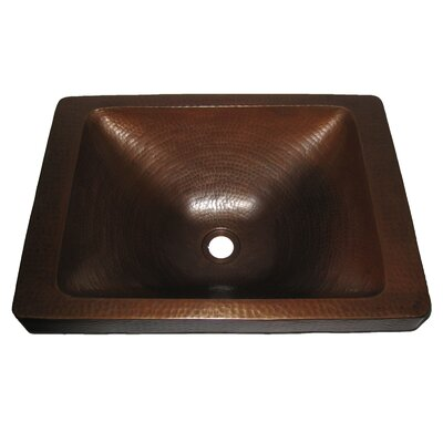 Novatto Santa Cruz Copper Drop-In Bathroom Sink