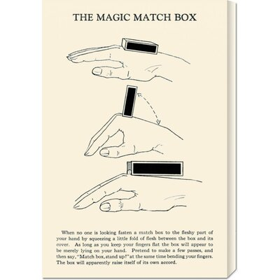 Global Gallery 'The Magic Match Box' by Retromagic Stretched Canvas Art