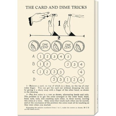 Global Gallery 'The Card and Dime Tricks' by Retromagic Stretched Canvas Art