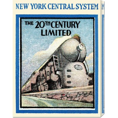 Global Gallery 'New York Central System - The 20th Century Limited' by Retro Travel Stretched ...