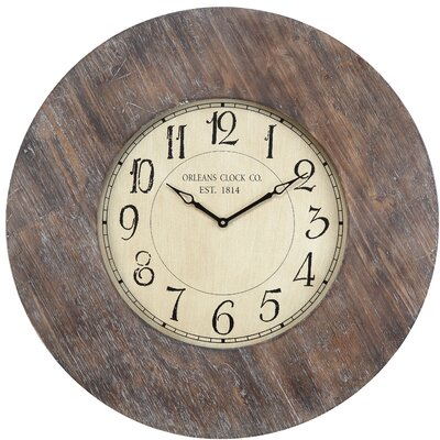 Cooper Classics Williston Clock in Distressed Rustic White Wash