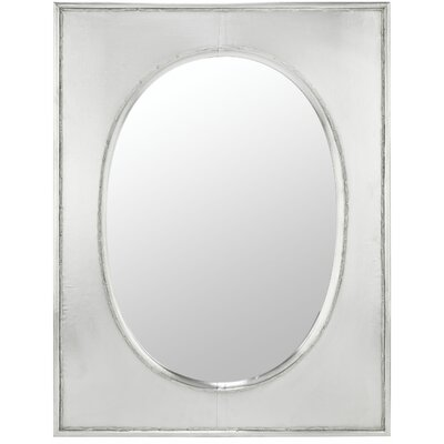 Venice Mirror in Distressed Silver Metal