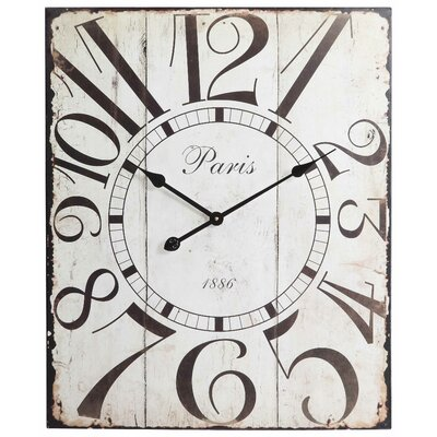 Redding Clock in Distressed Off White