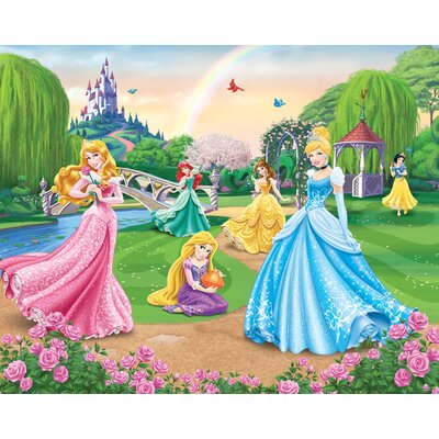 Disney princess wall mural wayfair uk for Barbie princess giant wall mural