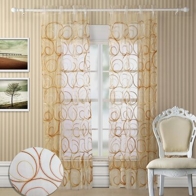 Chic Home Evelyn Grommet Curtain Panel Pair
