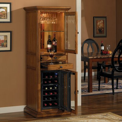 18 Bottle Meridian Wine Curio in Premium Oak